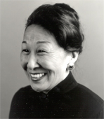 Black and white photograph of author Cathy Bao Bean